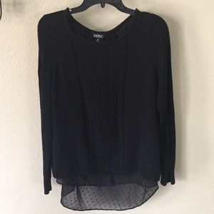Lucky Brand blouse lined sweater button back M